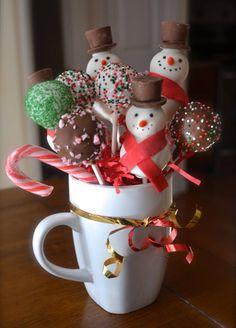 Christmas cake pop bouquet (facebook.com/amycakesnc)  #seasonseatings #harristeeter
