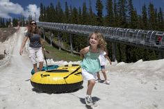 Miss the snow? Come tubing in the Summer at Adventure Point!