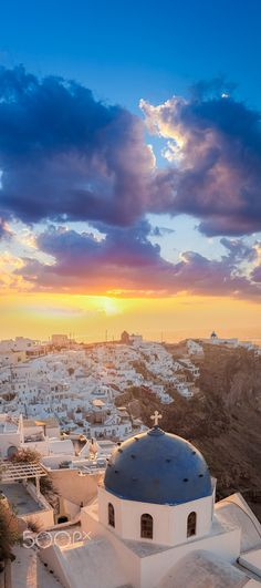 My favorite vacation spot would have to be in Santorini, Greece. They have the best sunsets.