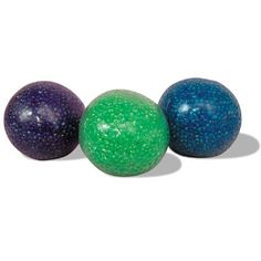 Glitter Bead Stress Ball- A firm stress ball stuffed with glitter beads, that provides variable resistance.  Squeeze all your stress away.  Diameter: 2.5 inches.  Color availability varies, select color when adding to your cart.