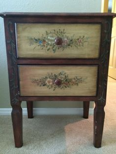 Black Painted End Table With Stained Top. | My Projects | Pinterest |  Refinished Furniture, Furniture Ideas And Refurbished Furniture