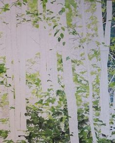painting the leaves #watercolorarts