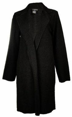 Sutton Studio Womens 100% Wool No-Close Topper Jacket Misses (Medium, Black) Sutton Studio. $69.99