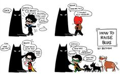 My art: Batman always knows how to deal with these robin boys…