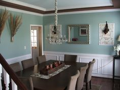 dining room Color is Wythe Blue by Ben Moore