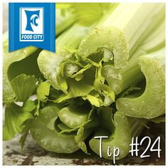 To help extend the life of celery, place it in a shallow cup or bowl of water on the counter or in the refrigerator.