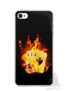 Capa Iphone 4/S Poker #1 - SmartCases - Acessórios para celulares e tablets :)