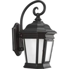 Progress Lighting, Crawford Collection Wall Mount Outdoor Black Lantern, P5686-31 at The Home Depot - Mobile