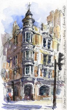 10 Sketches from London – Art Drawing Tips Watercolor Paintings For Beginners, Drawing For Beginners, Watercolor Art, Monuments, Best Travel Journals, Architecture Drawing Art, City Drawing, City Sketch, Drawing Skills