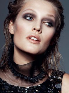 Publication: L'Express Styles December 2014 Model: Toni Garrn Photographer: Philip Gay Fashion Editor:Mika Mizutani Hair: Maxime Mace Make-up: Elsa Durrens