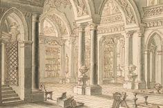 Giuseppe Galli Bibiena, Interno di una biblioteca