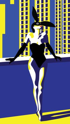 #easterbunny Illustration by Cinzia Candela  #easterbunny is an omage to Helmut Newton, and to the awesome italian model and designer Elsa Peretti.