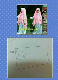 Longbcardy anak Sewing Patterns Girls, Sewing Paterns, Sewing Ideas, Instant Hijab, Turban Hijab, New Look Fashion, Sewing Shirts, Baby Sewing Projects, Hijab Tutorial