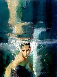 Swimmer by Bill Sienkiewicz *