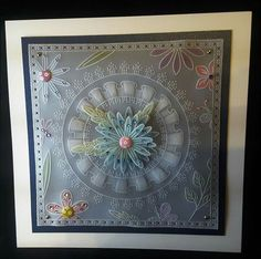 Glynis Whitehead design Hobbies And Crafts, Crafts To Make, Beaded Flowers Patterns, Parchment Cards, Crochet Blocks, Paper Cards, Barbara Gray, Frame, Floral