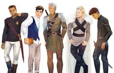 Chaol, Dorian, Rowan, Aedion and Sam. Chaol is the most attractive one there.