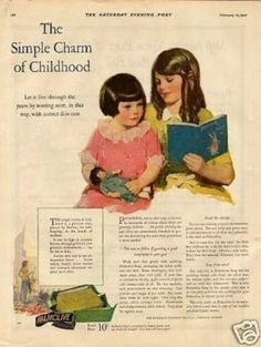 """Palmolive Soap Color Ad """"The Simple Charm... (1927)"""