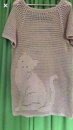 Для жарких дней - туники крючком в филейной технике   Вязание, рукоделие, хобби   Яндекс Дзен Diy Crochet Sweater, Crochet Tunic Pattern, Bonnet Crochet, Gilet Crochet, Crochet Mittens, Crochet Cardigan, Crochet Clothes, Crochet Stitches, Knitting Patterns