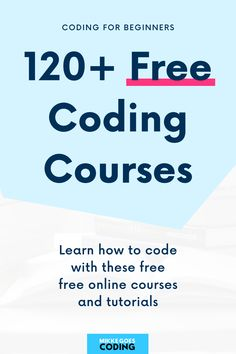 Start learning coding and computer programming from scratch with these free online coding courses, tutorials, and resources right away! Learn front-end web development, website coding, data analysis, machine learning, and more. If you want to start a career in tech or become a freelance web developer and work from home, these are the perfect learning resources to get started. Happy learning! #mikkegoes Free Online Coding Courses, Online Programming Courses, Computer Programming, Learn C, Learn Html, Learn To Code, Coding Tutorials, Good Tutorials, Coding For Beginners