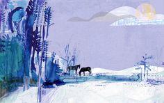 Jill Calder Illustration - A Winter Pond - Jill Calder Illustration - Nature Book Projects, Photo Illustration, Artist At Work, Contemporary Artists, Beautiful Images, Illustrators, Book Art, Graphic Design, Drawings