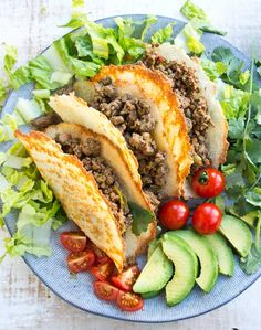 These are the crispiest low carb Keto taco shells you'll ever taste! They're easy and quick to make and contain only net carbs per shell. Load in your favourite low carb taco filling and enjoy on Taco Tuesday! Easy Soup Recipes, Best Chicken Recipes, Keto Recipes, Cooking Recipes, Healthy Recipes, Simple Recipes, Bread Recipes, Atkins Recipes, Snacks Recipes