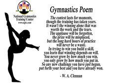 A poem about gymnastics: