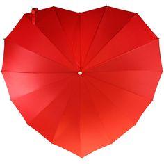 Crimson Heart Umbrella | heart shaped umbrella, rain gear |... (52 AUD) ❤ liked on Polyvore featuring accessories, umbrellas, heart shaped umbrella и heart umbrella