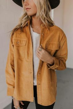 New arrivals at ROOLEE don't last long! Find the perfect Easter Sunday dresses for this upcoming spring season! Fall Winter Outfits, Autumn Winter Fashion, Courdoroy Jacket, Mode Lookbook, Look Fashion, Fashion Outfits, Casual Outfits, Cute Outfits, Outfit Goals