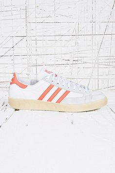 Adidas Natase Master Vin Trainers in White & Red