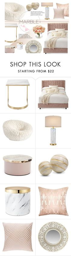 """Marble Elegance"" by nvoyce ❤ liked on Polyvore featuring interior, interiors, interior design, home, home decor, interior decorating, Bernhardt, PBteen, cupcakes and cashmere and Broste Copenhagen"