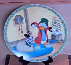 Disney Classic Mickeys Christmas Carol A Surprise Christmas Plate #EdwinMKnowlesChinaCo