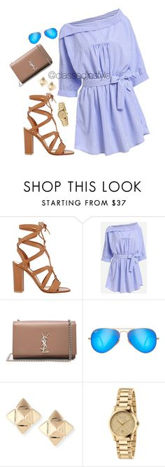 """""""Untitled #257"""" by mama-liciuos ❤ liked on Polyvore featuring Gianvito Rossi, Yves Saint Laurent, Ray-Ban, Valentino and Gucci"""