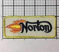Vintage 1970s Norton Motorcycles patch never sold and by RatsHole