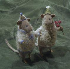 Christmas Rats - miniature rat toys by Natasha Fadeeva (artist stuffed animals) | eBay