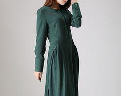 Ropa Vestido Largo / plisado vestido de cóctel / por camelliatune