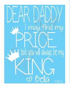 Father's Day gift or birthday gift for Daddy. Customizable! From BambinaBowtique on Etsy!