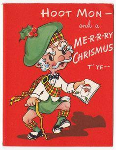 Vintage 1960s kissing gnomes swedish how swede it is pinterest vintage greeting card christmas scottish scotch hoot mon unused e647 m4hsunfo