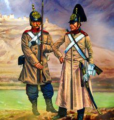 Russian Ekaterinburg Grenadier with Moscow Dragoon, Crimean War
