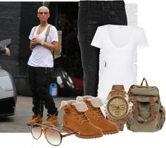 """""""Inspired Style: Amber Rose"""" by cheerstostyle ❤ liked on Polyvore"""