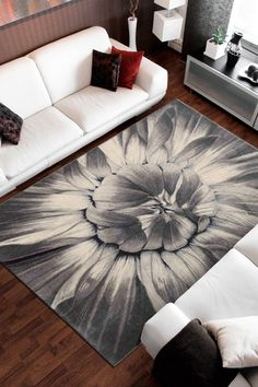 Sunflower Rug - Ivory/Taupe by Nourison on @HauteLook