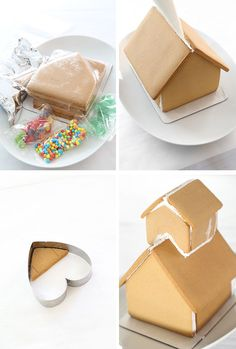 gingerbread house template Pretty Pink Gingerbread Shop with Wilton's Ready-Made Gingerbread House Kits Gingerbread House Template, Gingerbread House Designs, How To Make Gingerbread, Christmas Gingerbread House, Gingerbread Cake, Gingerbread Houses, Christmas Cupcakes, Christmas Desserts, Christmas Treats