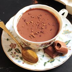 Lindt Italian Hot Chocolate   Ciccolata Calda - Deliciously warm and thick Lindt Italian hot chocolate (aka Ciccolata Calda). Ready in just five minutes using only five ingredients.
