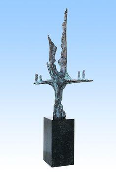 Piets Althuis - Levensboom - Bronzen sculptuur >>>><<<< Piets Althuis - tree of life - bronze sculpture