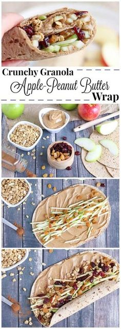 Full of protein, whole grains and fruits, this wrap recipe is fast, easy and so wonderfully adaptable! Our crunchy Peanut Butter Sandwich Wraps are perfect for on-the-go meals and make-ahead lunches (you can even go nut-free for school lunches)! Change up your peanut butter and jelly routine with this new peanut butter recipe idea that's got a delicious combination of sweet, crunchy, chewy and creamy ingredients your whole family will love! {ad} | www.TwoHealthyKitchens.com