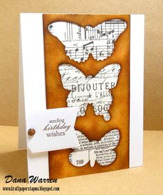 Beautiful masking on this card: Dana Warren - Kraft Paper Stamps - Papertrey Ink