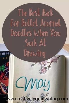 Bullet Journal doodles can be a fun way to make them fit your style and mood. But what do you do when you suck at drawing? Try this easy hack! #BUJOtips #bulletjournaldrawing #bulletjournalhacks #bulletjournaltips