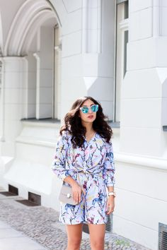 stine goya set coordinate two-piece shorts and blouse chic preppy summer streetstyle berlin look berlinstyle fashion blogger germany berlin samieze