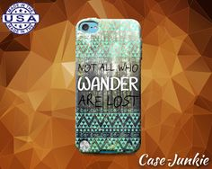 Not All Who Wander Are Lost Mint Aztec Tribal by TheCaseJunkie