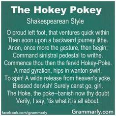 The Hokey Pokey - Shakespearean Style
