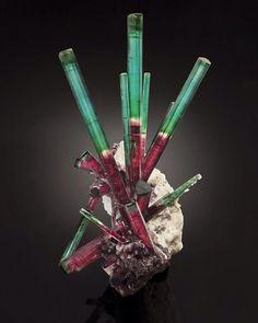 """Amazing red-green tourmaline. """